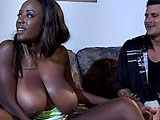 Sierra, a sexy black girl, is getting thoroughly satisfied by these two big cocks. This hot threesome starts off with Sierra giving a sloppy dual BJ before having the guys alternate between all three of her holes.