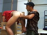 The Anal Hitman finds himself with a contract on a grocery store employee with a nice firm ass.  Before violating this poor guy's ass hole with his big hard cock, he sticks a couple vegetables up the guy's ass.
