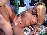 Barbie Bell, a big titty blonde, is hot for her big interview.  This hottie makes a lasting impression on this director's hard cock.
