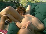 Lola and Vivi, two sexy ass lesbians, get their fuck on outside. They tongue fuck each other's twat and bust out a strap on to play with.