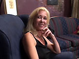 Emerson, a sexy mature blonde, is getting her old dusty cunt fucked by a young black man.  She starts by giving this kid the best BJ he's ever had before letting him fuck all of her holes.