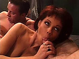 Serenity, an older brunette, is getting her sexy old ass DPed by two young cocks.  There is a catch, her husband will be watching as these two guys double penetrate his wife.