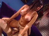 Luccia, a large chested Latina, is taking a hard fucking from a big fat cock.  She is fucked in some amazing positions after giving the guy some real sloppy sucking.