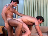 Two hot Latino studs are playing hide the sausage in each others backsides.  Before penetrating each other's brown eyes, they take turns sucking on each other's rock hard cock .