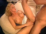 Hannah Harper, a hot blonde, is getting railed in her butt hole. Before getting plowed in numerous positions, she wets the guy’s cock out with a sloppy blowjob.