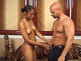 This fine ass black girl is getting her pussy drilled for the very first time on camera.  She starts out kind of shaky, but as soon as she gets a cock in her mouth, she looks like an old pro.  After hogging the guys big cock, she shows her dick riding skills are pretty fucking amazing too.  