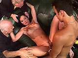 Katherine, a hot brunette, is getting her hot European ass fucked really hard in front of her husband.  Her man's fantasy is to watch his wife fucking a big dick porn star as he watches.  So Katherine sucks, and has her ass pounded until she receives a big giant facial.
